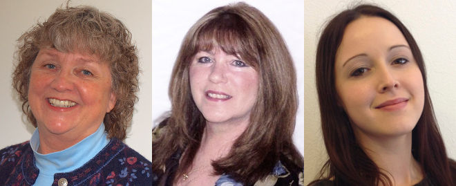 Holly Stinson, Patti Coleman and Kelly Saunders